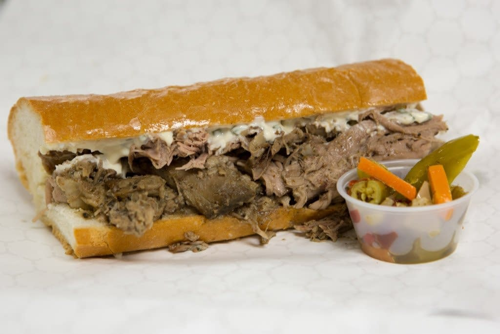 "Big Ange's Italian ""Porcheta"" Pork Sandwich"