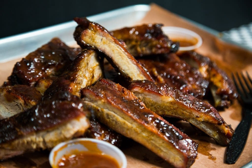 Smoked St. Louis Ribs with Homemade BBQ Sauce
