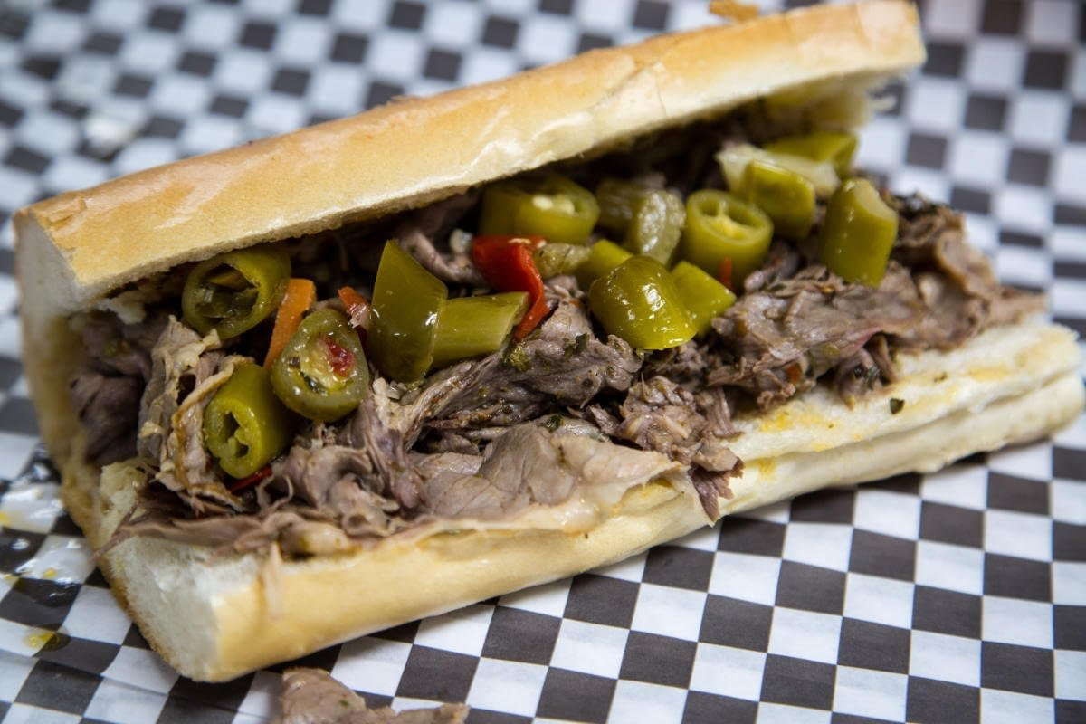 BIG ANGES EATERY Italian Beef Sandwich with Giardiniera